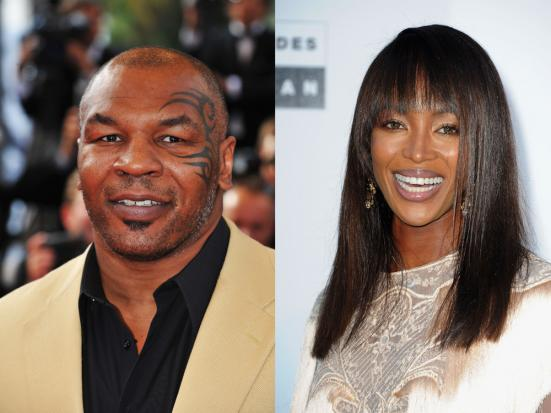 mike tyson & naomi campbell