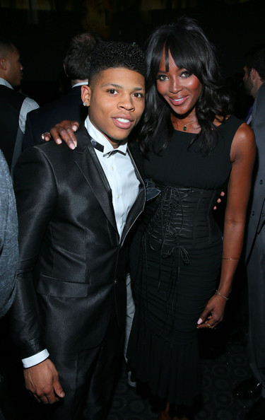 Actor Bryshere Gray and Naomi Campbell attend the premiere of Fox's 'Empire' held at ArcLight Cinemas Cinerama Dome on January 6, 2015 in Hollywood, California