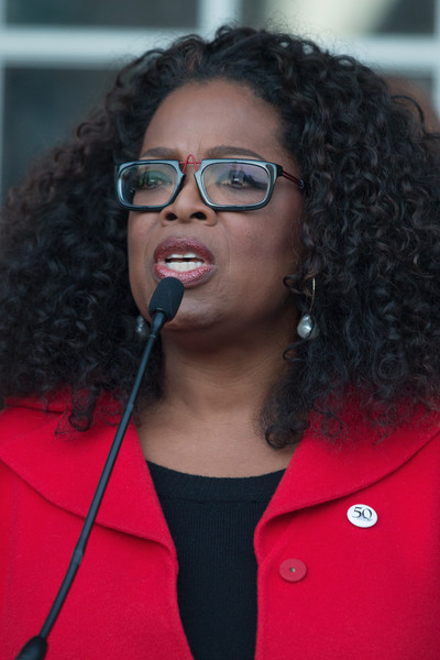 """""""Selma"""" producer and actress Oprah Winfrey participates in the ceremony to commemorate the life of Dr. Martin Luther King, Jr. on January 18, 2015 in Selma, Alabama"""