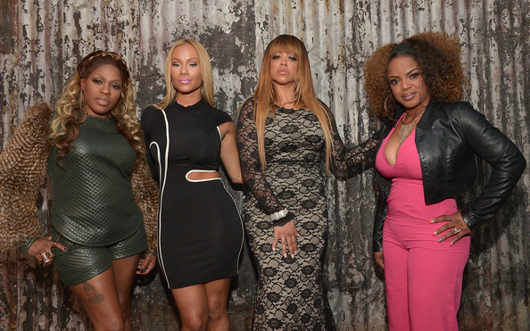 "(L-R) Cynthia ""Lil Mo"" Loving, Christina ""Brave"" Williams, Stacy Francis and Leela James arrive at Celebration Of Life With TV One's R&B Divas LA at House of Blues Sunset Strip on January 14, 2015 in West Hollywood, California"