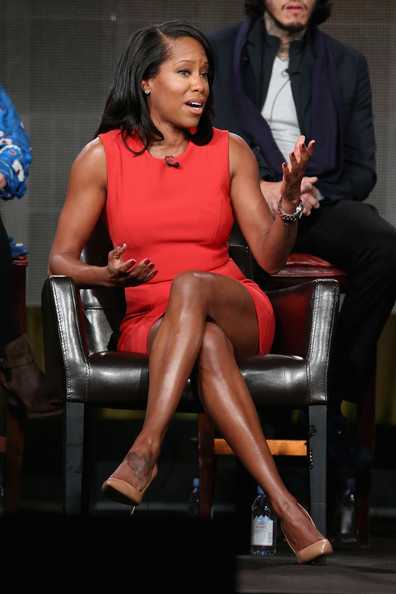 Actress Regina King speaks onstage during the 'American Crime' panel at the Disney/ABC Television Group portion of the 2015 Winter Television Critics Association press tour at the Langham Hotel on January 14, 2015 in Pasadena, California