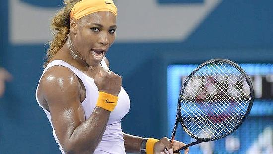 serena williams with racket