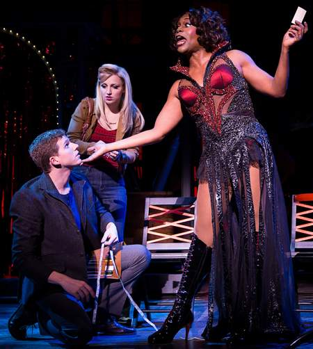 "(L-R) Stark Sands, Annaleigh Ashford and Billy Porter in Broadway's ""Kinky Boots"""