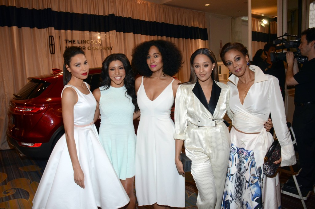 Jurnee Smollett, Jeanette Jenkins, Tracee Ellis Ross, Tia Mowry, and Holly Robinson-Peete with the Lincoln MKZ at ESSENCE Black Women In Hollywood