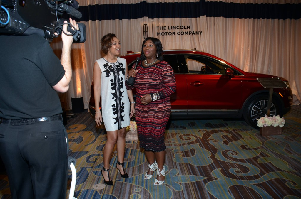 Lincoln host Bevy Smith chats with Shawn Thompson, Multi-cultural Marketing ManagerLincoln, at ESSENCE Black Women In Hollywood