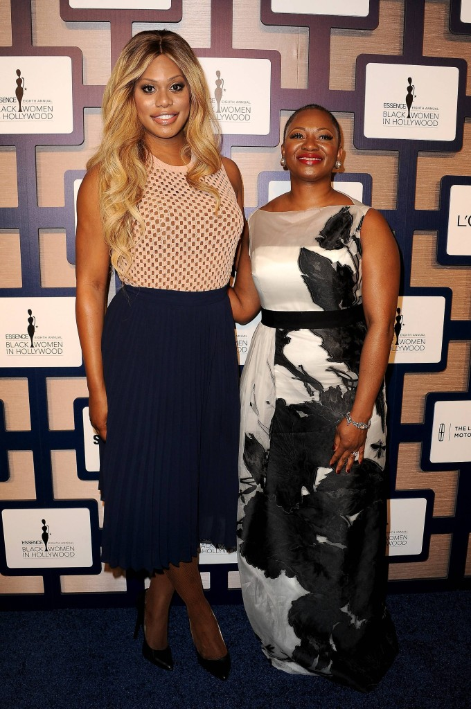 "Star of ""Orange Is The New Black"" Laverne Cox and ESSENCE Magazine Editor In Chief Vanessa Bush attend ESSENCE Black Women In Hollywood presented by Lincoln"