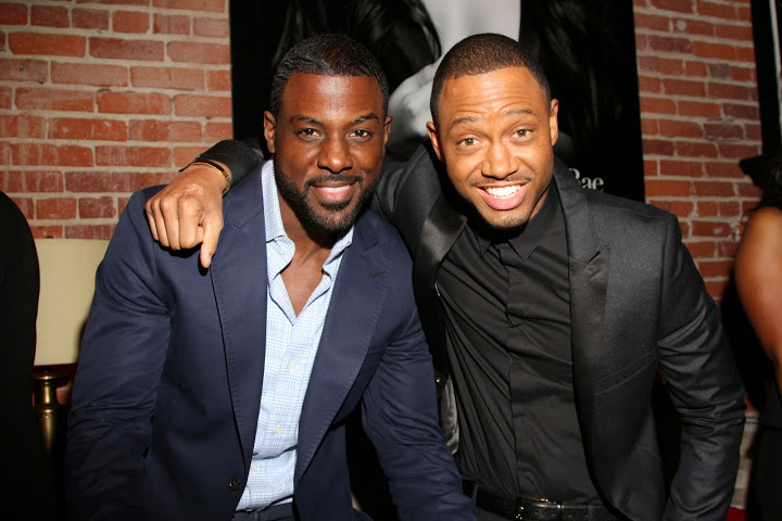 terrence J, lance gross, bae, fiftyshades party