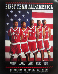 Tark coached this lineup to a 1990 National Championship win over Duke