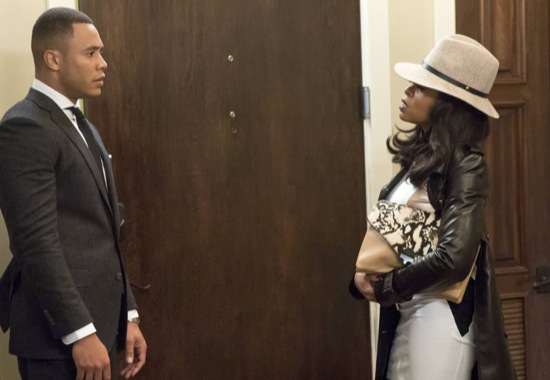 """Andre (Trai Byers, L) and Cookie (Taraji P. Henson, R) chat in the """"Dangerous Bonds"""" episode of EMPIRE airing Wednesday, Feb. 4 (9:00-10:00 PM ET/PT) on FOX."""