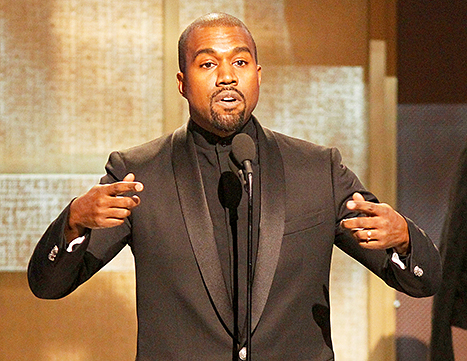 Kanye West speaks onstage during The BET Honors 2015 at the Warner Theatre on January 24