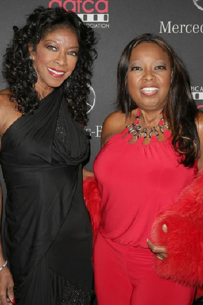 Natalie Cole and Star Jones -AAFCA Mercedes Benz Oscar Viewing Party