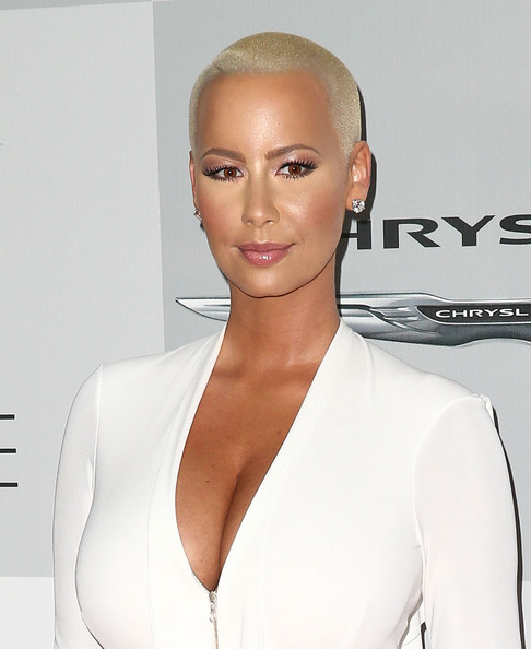 Model Amber Rose attends NBCUniversal's 72nd Annual Golden Globes After Party at The Beverly Hilton Hotel on January 11, 2015 in Beverly Hills, California