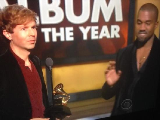 beck & kanye on stage