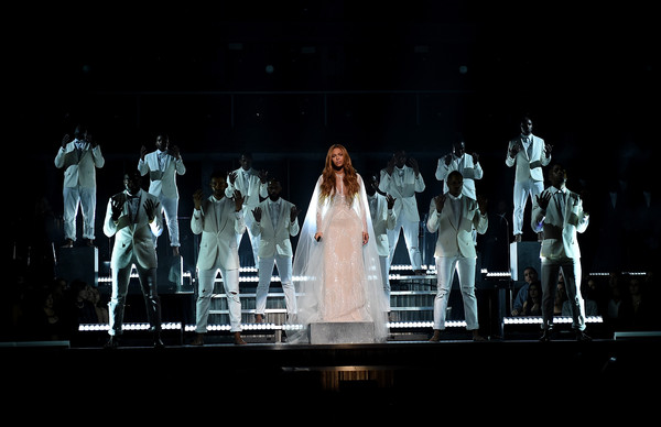 Recording Artist Beyonce performs onstage during The 57th Annual GRAMMY Awards at the STAPLES Center on February 8, 2015 in Los Angeles, California