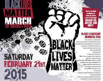 black lives matter march poster