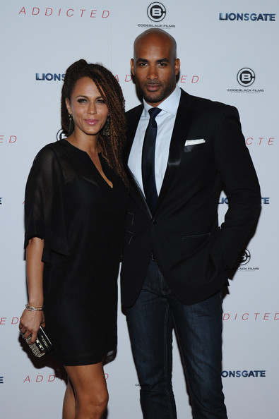 Actress Nicole Ari Parker and Boris Kodjoe attend the New York Premiere of 'Addicted' at Regal Union Square on October 8, 2014 in New York City