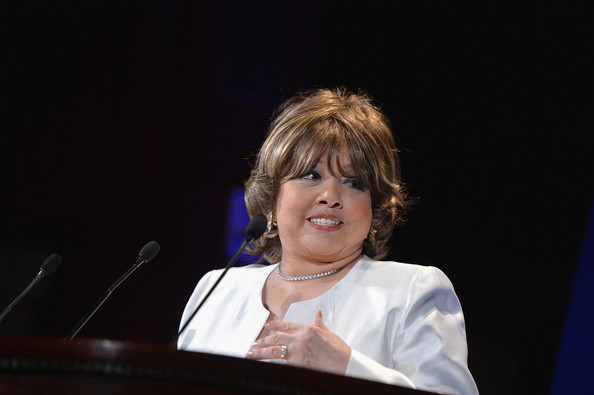 Carole Simpson speaks onstage at the The Jackie Robinson Foundation Annual Awards' Dinner at the Waldorf Astoria Hotel on March 4, 2013 in New York City