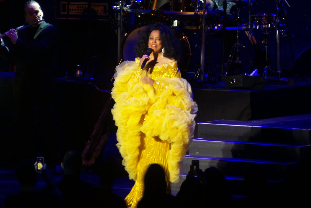 Diana Ross performing at the historic Kings Theatre in Flatbush, Brooklyn on February 3, 2015 after its restoration.