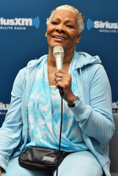 """Singer Dionne Warwick attends """"Cousin Brucie presents Dionne Warwick: In studio performance and interview for SiriusXM listeners at SiriusXM Studios on October 30, 2014 in New York City"""