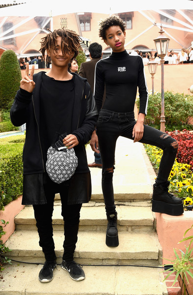 Actor Jaden Smith and singer Willow Smith attend Roc Nation and Three Six Zero Pre-GRAMMY Brunch 2015 at Private Residence on February 7, 2015 in Beverly Hills, California