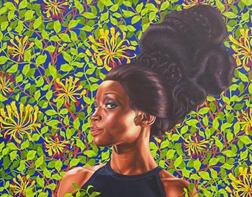 kehinde wiley (woman with tall hair)