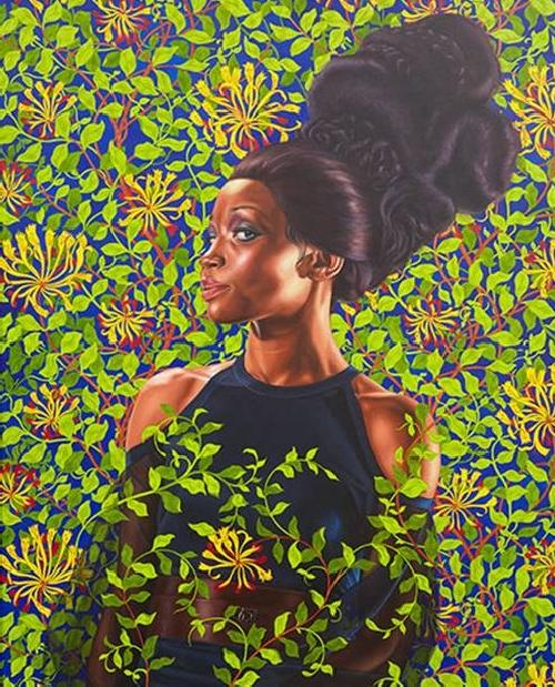 kehinde wiley (woman with large hair)