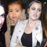 Khloe, Kim, Kylie & North West in Car Accident