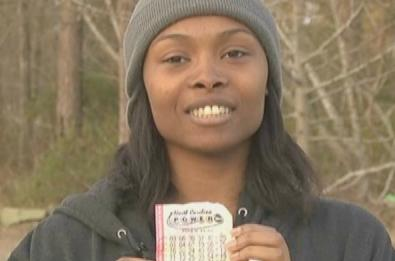 marie holmes (with powerball ticket1)