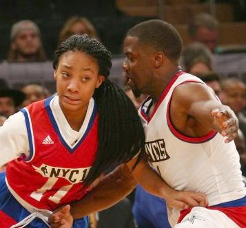 mone davis kevin hart (nba all-star celebrity game)