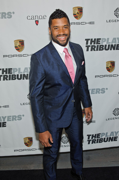 Russell Wilson attends The Players' Tribune Launch Party - www.theplayerstribune.com at Canoe Studios on February 14, 2015 in New York City
