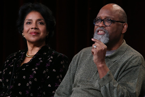"(L-R) Actress Phylicia Rashad and filmmaker Sam Pollard speak onstage during the 'AMERICAN MASTERS ""August Wilson: The Ground on Which I Stand""' panel discussion at the PBS Network portion of the Television Critics Association press tour at Langham Hotel on January 20, 2015 in Pasadena, California"