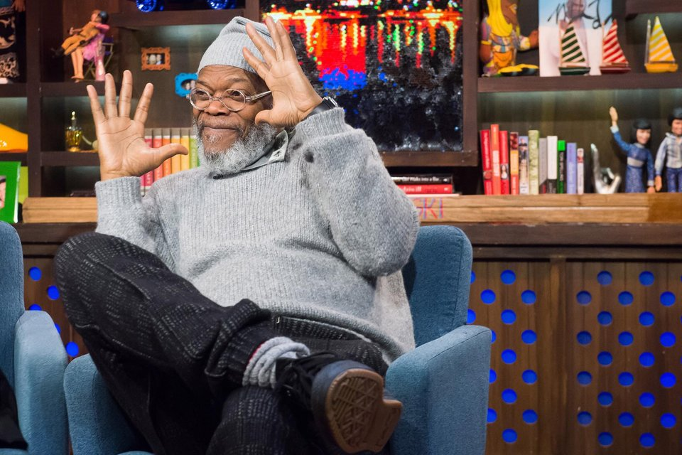 WATCH WHAT HAPPENS LIVE -- Episode 12034 -- Pictured: Samuel L. Jackson -- (Photo by: Charles Sykes/Bravo)