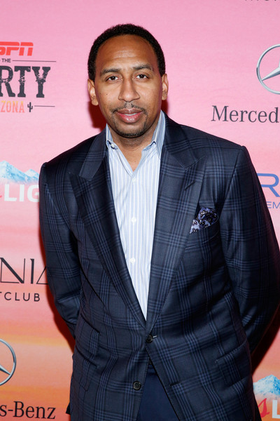 TV personality Stephen A. Smith attends ESPN the Party at WestWorld of Scottsdale on January 30, 2015 in Scottsdale, Arizona