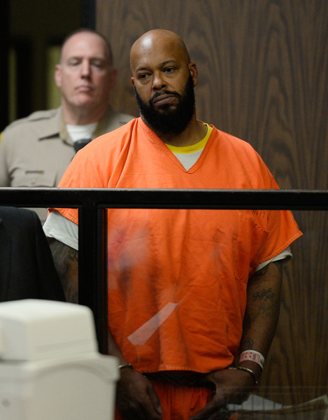 """Marian """"Suge"""" Kinght appears at his arraignmet at Compton Courthouse on February 3, 2015 in Compton, California. Knight is charged with murder and attempted murder after a hit-and-run incident following an argument in a parking lot on January 29"""