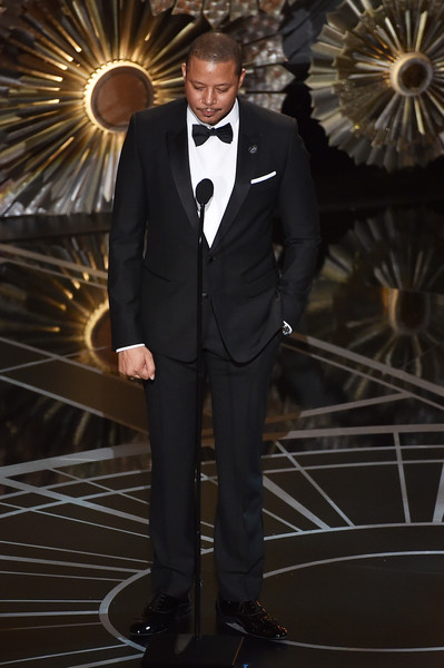 Actor Terrence Howard speaks onstage during the 87th Annual Academy Awards at Dolby Theatre on February 22, 2015 in Hollywood, California