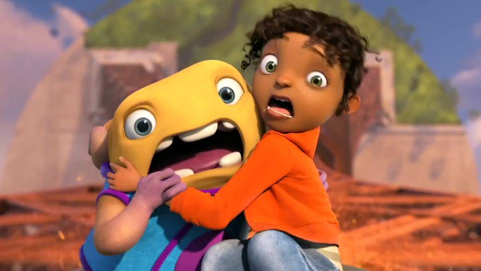 """Oh and Tip (Jim Parsons and Rihanna) in the DreamWorks Animation film """"Home"""""""