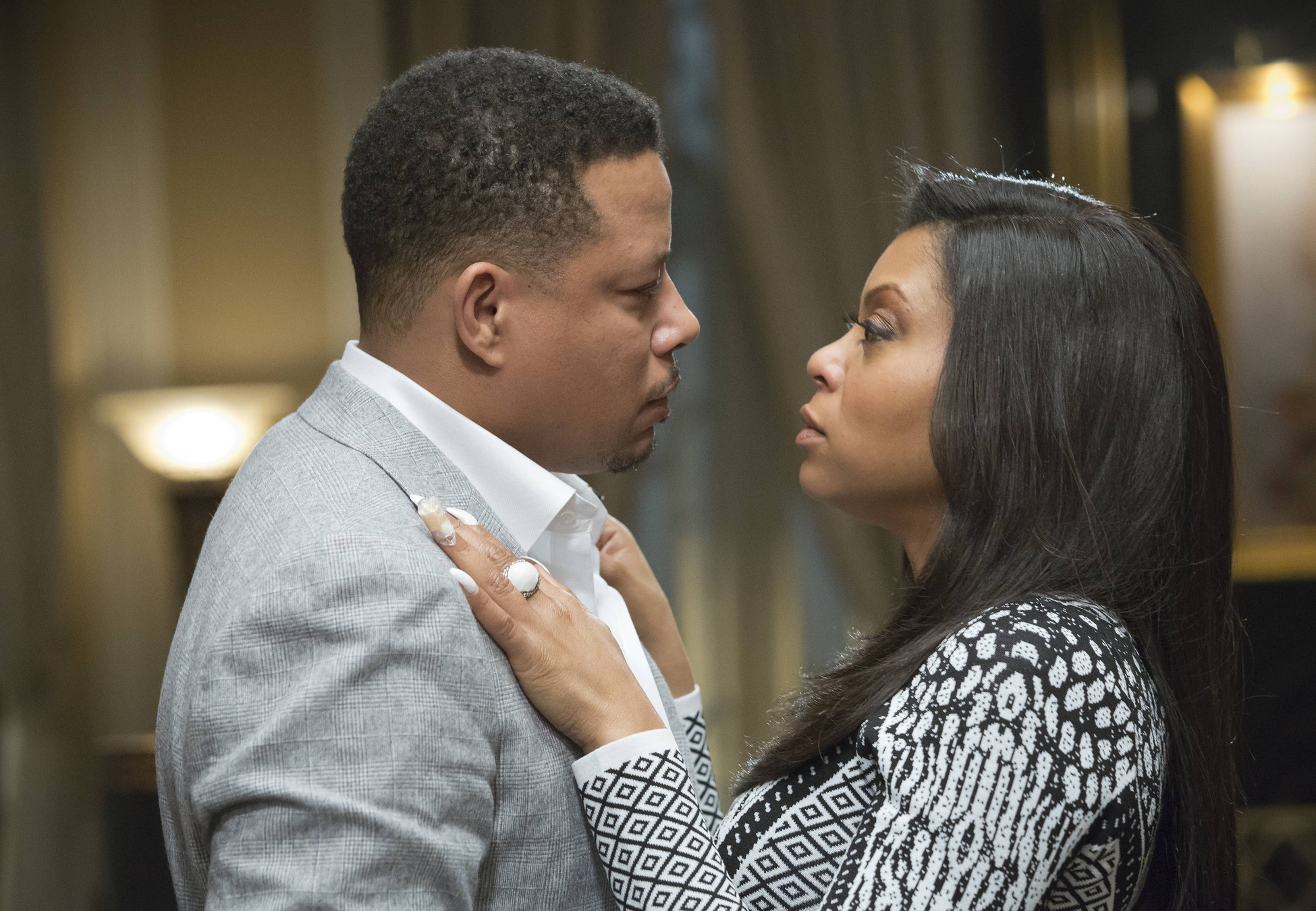 EMPIRE: Lucious (Terrence Howard, L) and Cookie (Taraji P. Henson)