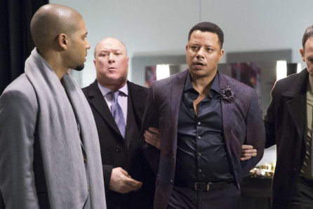 "Jamal (Jussie Smollett, L) watches Lucious (Terrence Howard, R) get taken away in the special two-hour ""Die But Once/Who I Am"" Season Finale episode of EMPIRE"
