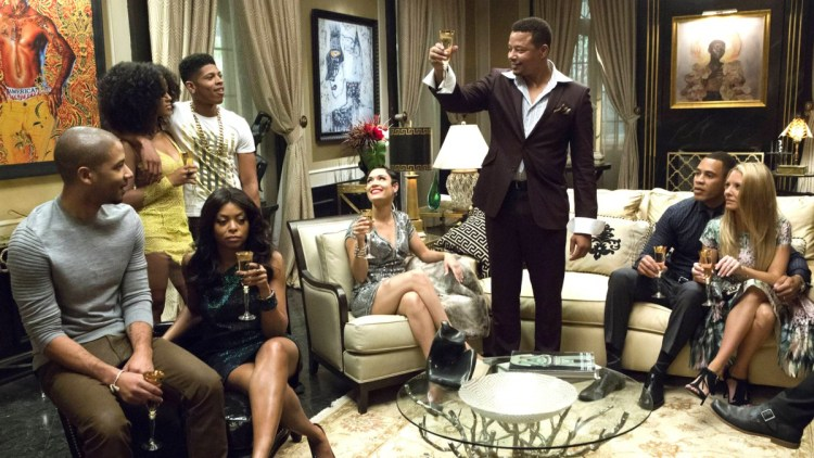 empire (lucious makes toast with family)