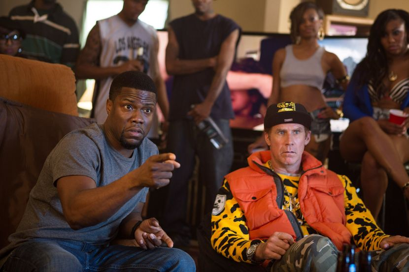"""Kevin Hart, left, and Will Ferrell appear in a scene from the film, """"Get Hard."""" ("""