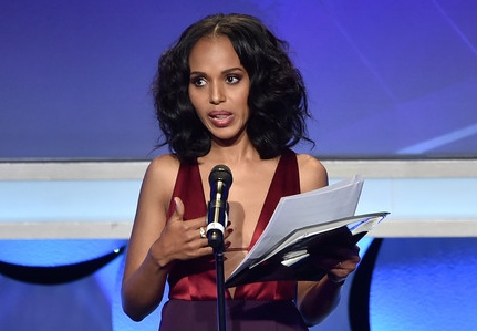 Actress Kerry Washington speaks onstage during the 26th Annual GLAAD Media Awards at The Beverly Hilton Hotel on March 21, 2015 in Beverly Hills, California