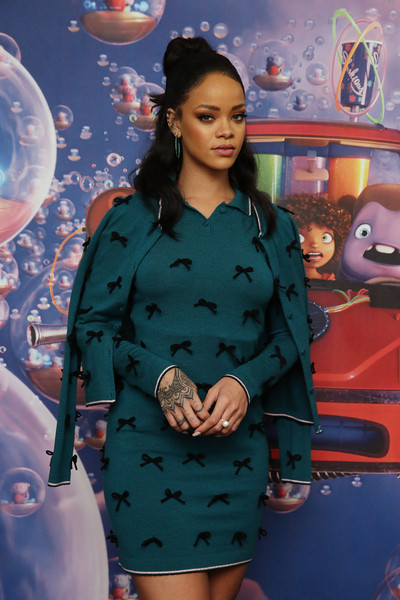 """Rihanna promotes her new animated feature """"Home"""" at Mandarin Oriental on March 15, 2015 in New York City"""