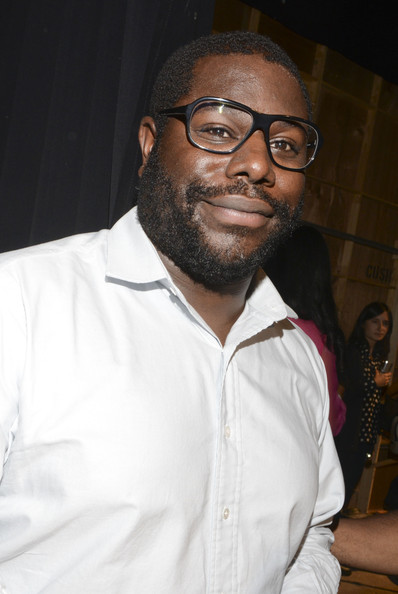 Director Steve McQueen backstage at the Tracy Reese fashion show during Mercedes-Benz Fashion Week Spring 2015 at Art Beam on September 7, 2014 in New York City