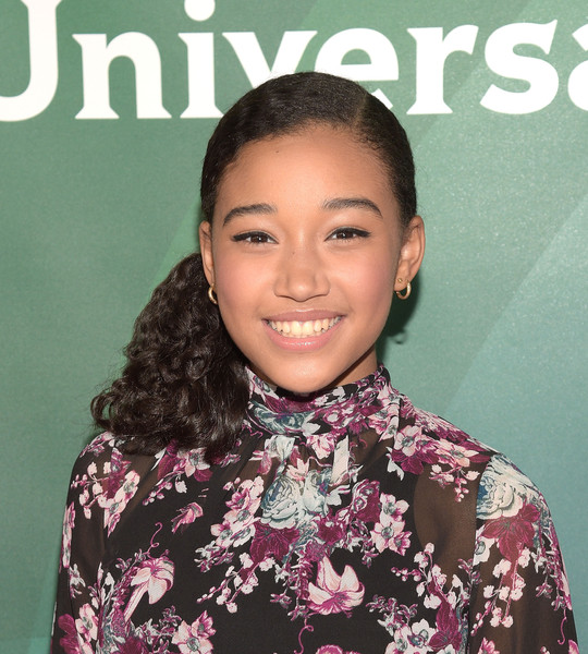 Amandla Stenberg attends the 2015 NBCUniversal Summer Press Day at the Langham Hotel on April 2, 2015 in Pasadena, California