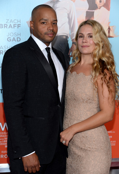 "Actor Donald Faison (L) and CaCee Cobb attend the ""Wish I Was Here"" screening at AMC Lincoln Square Theater on July 14, 2014 in New York City"