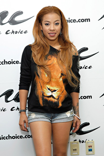 Singer Keyshia Cole visits 'You & A' at Music Choice on August 5, 2014 in New York City