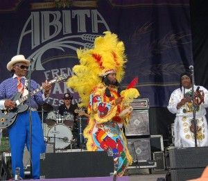 Little Freddie King, Big Chief Juan Pardo and Isaac Kinchen: Photo Credit, Ricky Richardson