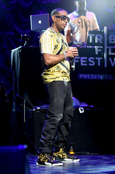 Rapper Ludacris performs on stage at the Opening Night Performance during the 2015 Tribeca Film Festival at the Beacon Theatre on April 15, 2015 in New York City