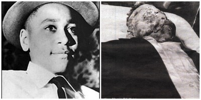 The young Emmett Till before and after