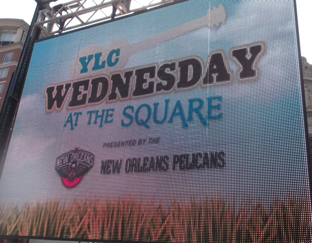 Wednesday at the Square Signage